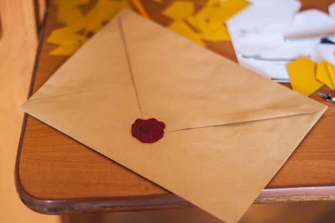 La lettera è parte del processo di selezione
